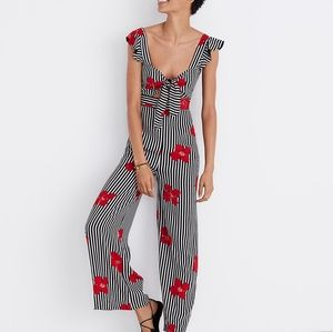 Madewell Plumeria Cutout Jumpsuit Candied Orchids